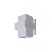 ARANDELA EFEITOS 15,5X11,5cm LED INTEGRADO ALUMINIO  – 254/1