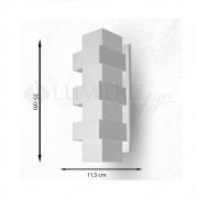 ARANDELA EFEITOS 35X11,5cm LED INTEGRADO ALUMINIO  – 254/3