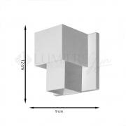 ARANDELA EFEITOS 9x12cm LED INTEGRADO ALUMINIO  – 253/1