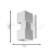 ARANDELA EFEITOS 9x12cm LED INTEGRADO ALUMINIO  – 253/2