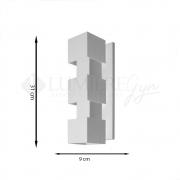 ARANDELA EFEITOS 9x12cm LED INTEGRADO ALUMINIO  – 253/3