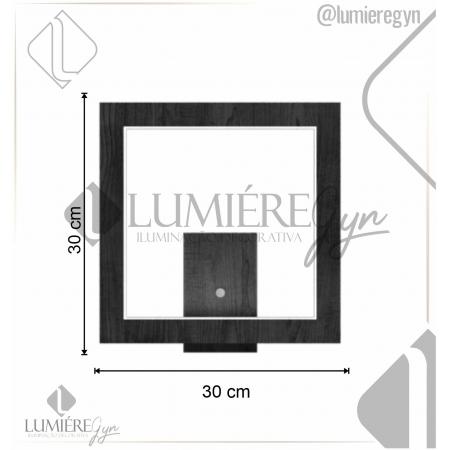 ARANDELA FRAME 30X30Cm - Fita LED 2700K 12W - AR38 - FOXLUSTRES