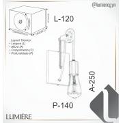 ARANDELA IP20 25X12X14CM METAL   OLD ARTISAN AR-5124
