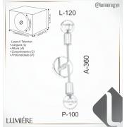 ARANDELA IP20 36X12X10CM METAL   OLD ARTISAN AR-5201