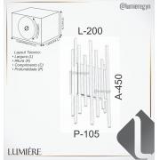 ARANDELA IP20 45X20X10,5CM METAL   OLD ARTISAN AR-5154