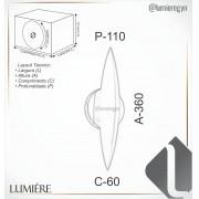 ARANDELA LED OLD ARTISAN AR-5371-OL 11W 2700K 110V 360X110X60MM OURO VELHO