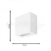 ARANDELA RETANGULAR 1 FACHO 10X10X5cm LED INTEGRADO  ALUMINIO COM VIDRO TRANSPARENTE – 223/-301  - ITAMONTE