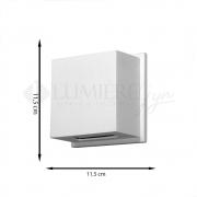 ARANDELA RETANGULAR 1 FACHO 11,5X11,5X5cm LED INTEGRADO ALUMINIO COM VIDRO TRANSPARENTE – 236/1-301/302