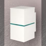 ARANDELA RETANGULAR 1 FILETE  19X10cm LED INTEGRADO ALUMINIO COM VIDRO TRANSPARENTE – 238e - USO EXTERNO