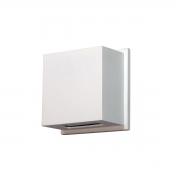 ARANDELA RETANGULAR 2 FACHO 11,5X11,5X5cm  LED INTEGRADO ALUMINIO COM VIDRO TRANSPARENTE – 236/2-301/302