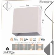 Arandela Sensitive Branca  LED Com ângulo ajustável  4W 200 lúmens - DWSLQ1204W3BC BRONZEARTE
