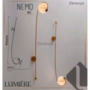Arandela Starlux ZR017-S Nemo C/ Globo Vidro Leitoso Bronze
