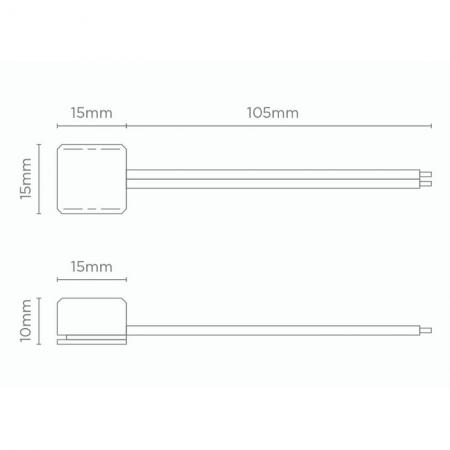 CONECTOR P/ FITA DE LED 12V 10MM | STELLA STH6873