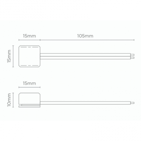 CONECTOR P/ FITA DE LED 12V 8MM | STELLA STH6871