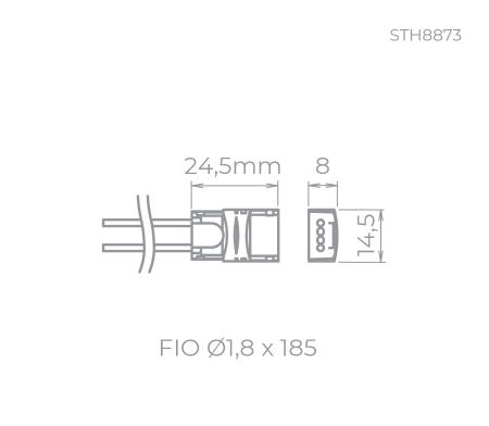 CONECTOR P/ FITA DE LED P/ FITA FULL LED | STELLA STH8873