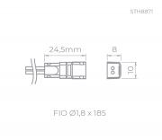 CONECTOR P/ FITA DE LED P/ FITA MINI | STELLA STH8871