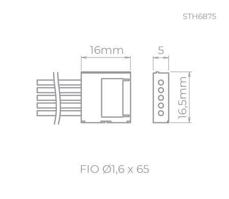 CONECTOR P/ FITA DE LED P/ FITA RGBW | STELLA STH6875