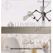 PENDENTE CASUAL LIGHT QPD1368DO TORCH 6L E27 Ø440X175MM DOURADO/PRETO