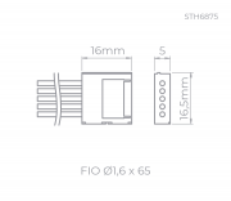 EMENDA P/ FITA DE LED P/ FITA RGBW | STELLA STH6876