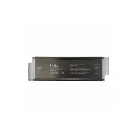 FONTE/DRIVER LED BRILIA 304895 DIMERIZÁVEL 100W 24V 4,1A IP20 127V 235X68X40MM