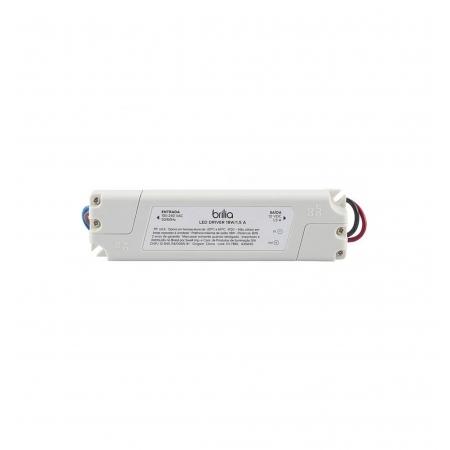 FONTE/DRIVER LED BRILIA 435830 18W 12V 1,5A IP20 BIVOLT