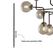 HASTE P/ OLLIE 52,5CM METAL PRETO | STELLA SD8839