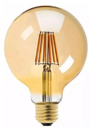Lâmpadas Filamento Led Ballon G95 Retrô 4w Vintage Âmbar