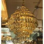 Lustre de cristal Florença Belle 45cm Dourado - 140140018 STARTEC