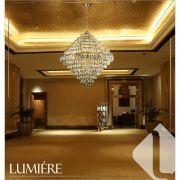 Lustre de cristal Florença Belle 80cm Dourado / Pé Direito Alto - 140140024 STARTEC