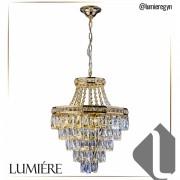Lustre de Cristal Florença Dourado - 140140003 STARTEC