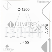 LUSTRE/PENDENTE RETANGULAR 120X40CM METAL | OLD ARTISAN PD-4956/10
