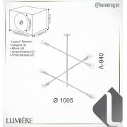 PENDENTE Ø100,5CM METAL | OLD ARTISAN PD-5219