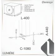PENDENTE 108X40CM METAL | OLD ARTISAN PD-5173-CRO