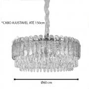 PENDENTE 60CM CRISTAL E14×12 DOURADO - DCD00221