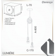 PENDENTE 80X17X7CM METAL | OLD ARTISAN PD-5125