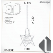 PENDENTE ARAMADO 11X11CM METAL   OLD ARTISAN PD-5121