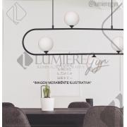 PENDENTE CASUAL LIGHT PD1329PT-BR CADRE 4L G9 950X120X480MM PRETO