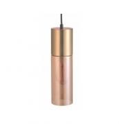 PENDENTE CASUAL LIGHT QPD1348CH SPIRE 1L E27 Ø90X300MM DOURADO