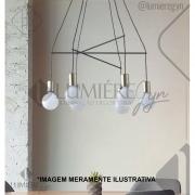 PENDENTE CASUAL LIGHT QPD1354 TRACE 6L E27 620X1050MM COBRE/PRETO