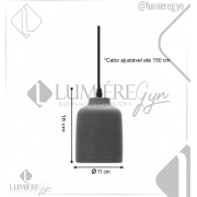 PENDENTE CASUAL LIGHT QPD913-CT OLÍMPIA 1L E27 Ø110X160MM