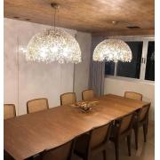 PENDENTE DE CRISTAL LAMPLUZ MEA 40 4L LED 9W G9 400X400X220MM