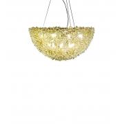 PENDENTE DE CRISTAL LAMPLUZ TAZZA 60 10L LED 9W G9 600X600X300MM