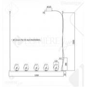 PENDENTE DIAMOND PD1517 -  5XG9 (LED) MAX 5W