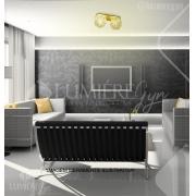 PLAFON DE CRISTAL LAMPLUZ IRIS DUPLO 2L LED 9W G9 170X150X350MM