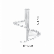 PLAFON DE SOBREPOR 170XØ130CM METAL   OLD ARTISAN PLF-5102