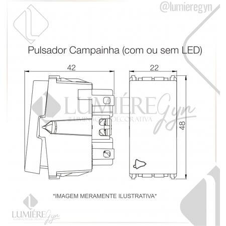 PULSADOR CAMPAINHA 10A/250V REFINATTO - 13798331