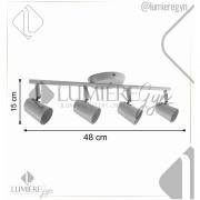 Spot Trilho MY1004BBC Para Lâmpada 15X48cm - Gu10 Branco Bronzearte