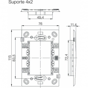 SUPORTE PLASTICO REFINATTO 4X2 - 13803840