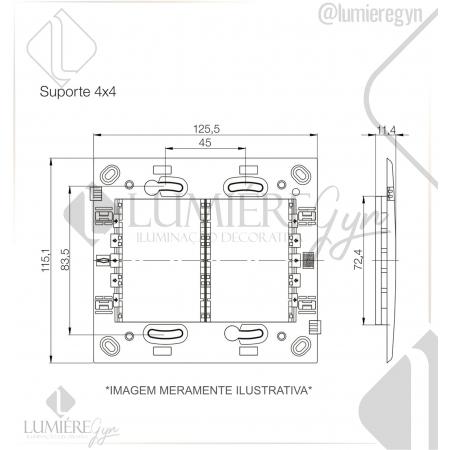 SUPORTE PLASTICO REFINATTO 4x4 - 13803841