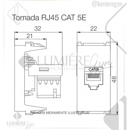 TOMADA RJ45 CAT 5E REFINATTO PRETO - 13799537